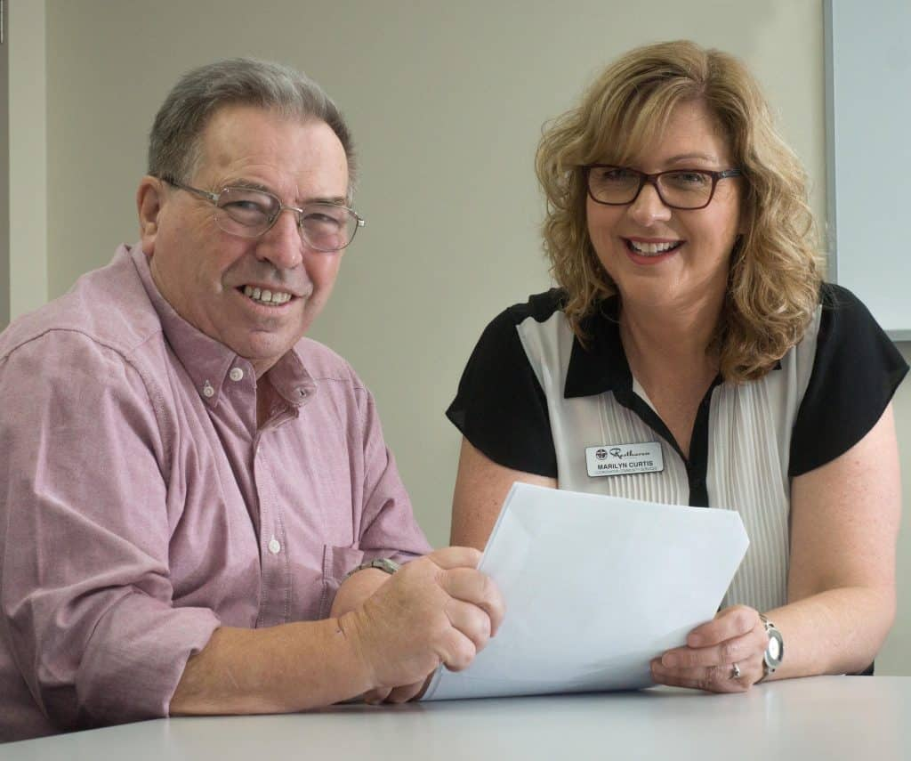 Accessing help with paperwork - Roy Evans & Marilyn Curtis