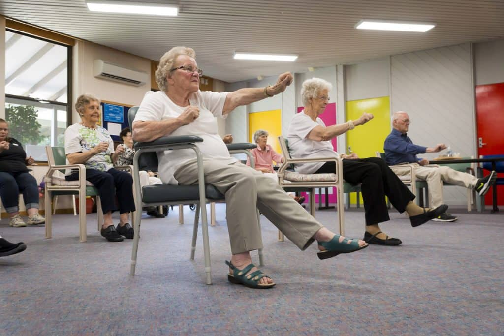 Beryl does Tai Chi at Marion Community Services