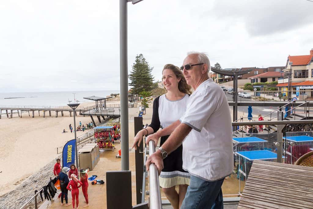 Resthaven clients from Onkaparinga visiting Noarlunga Beach