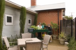 Gardening at Hersey Cottages Marion