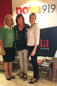 Sue Springbett, Lynn Openshaw, Melanie Howard at 5aa Interactive Lounge Feb 2017