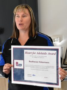 Jodie the Roadie with certificate