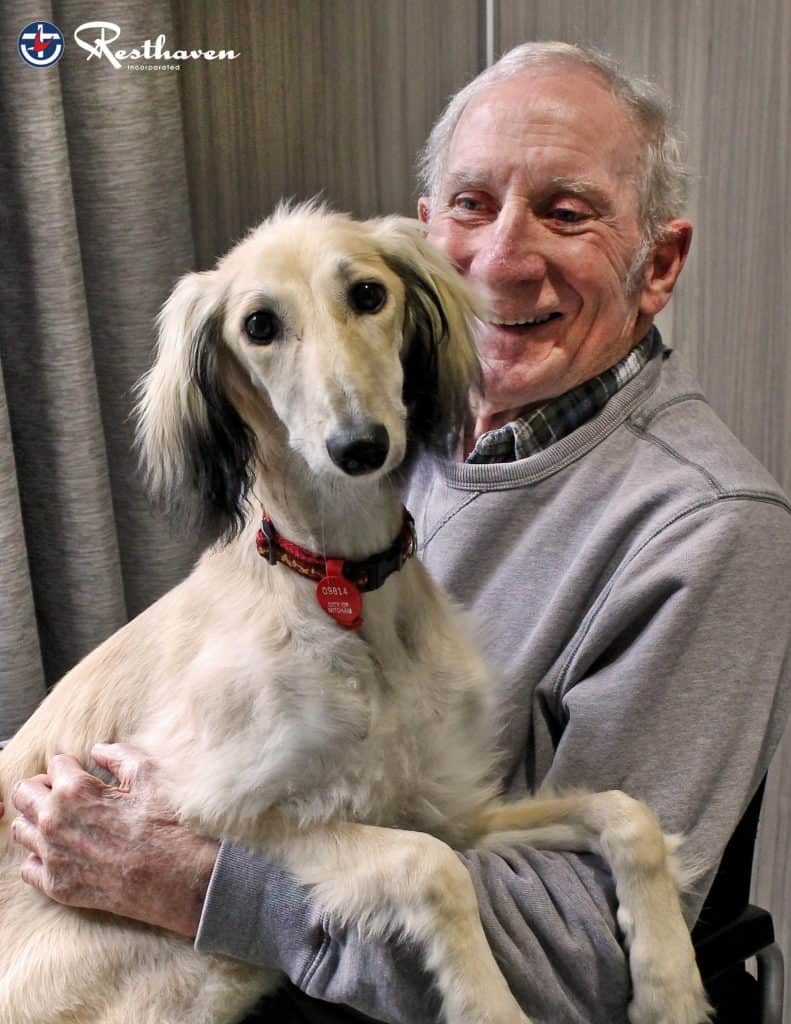 Brian and Salome the visiting dog