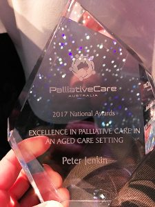 Palliative Care award Peter Jenkin
