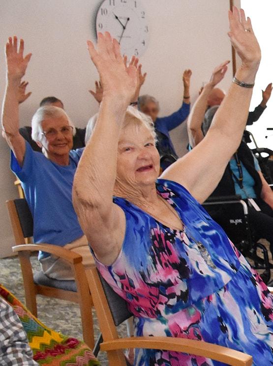 Port Elliot Sit Dance exercise group