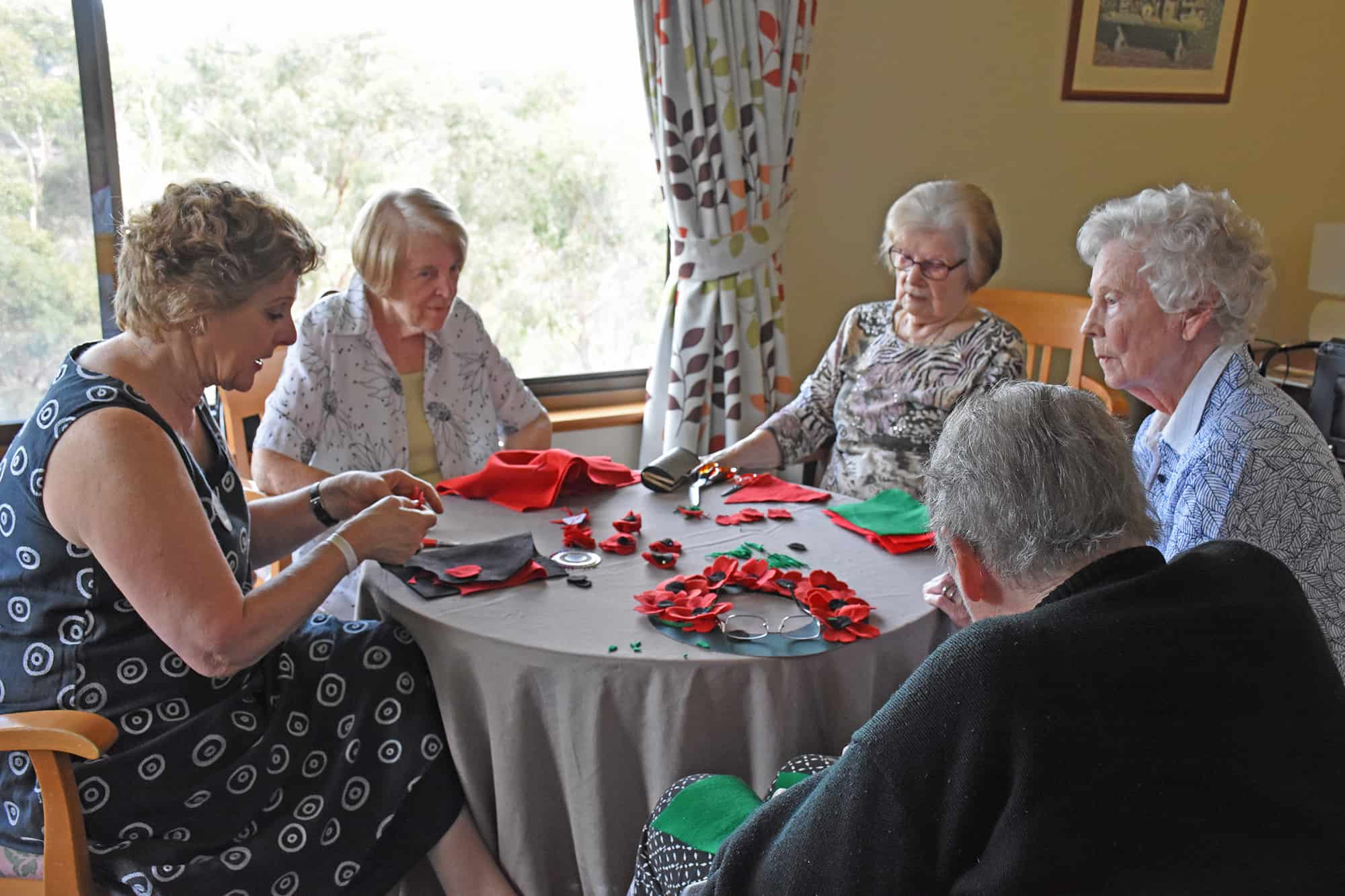 Moni with the art and craft group