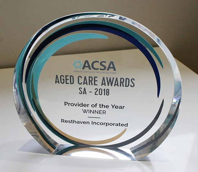 Resthaven ACSA SA Aged Care Provider of the Year Award