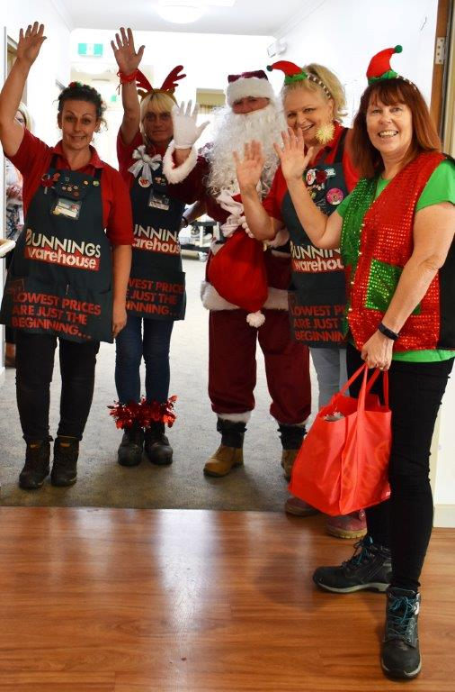 Bunnings elves and Santa wave goodbye