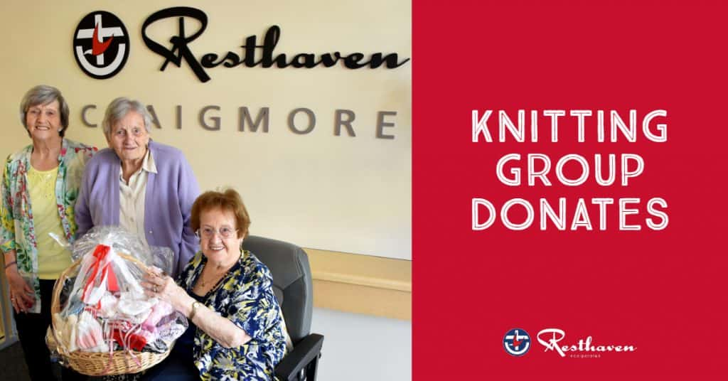 Resthaven Craigmore donates hand-knitted items to Lyell McEwin