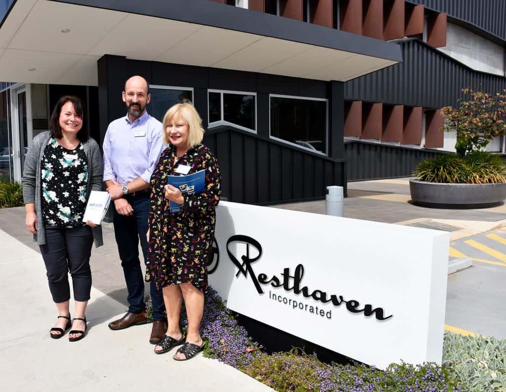 Karen Gregory, Project Officer; Peter Jenkin, Nurse Practitioner Palliative Care; Rosie Bonnin, Research Associate, PalliAGED and Caresearch, College of Nursing & Health Sciences, Flinders University