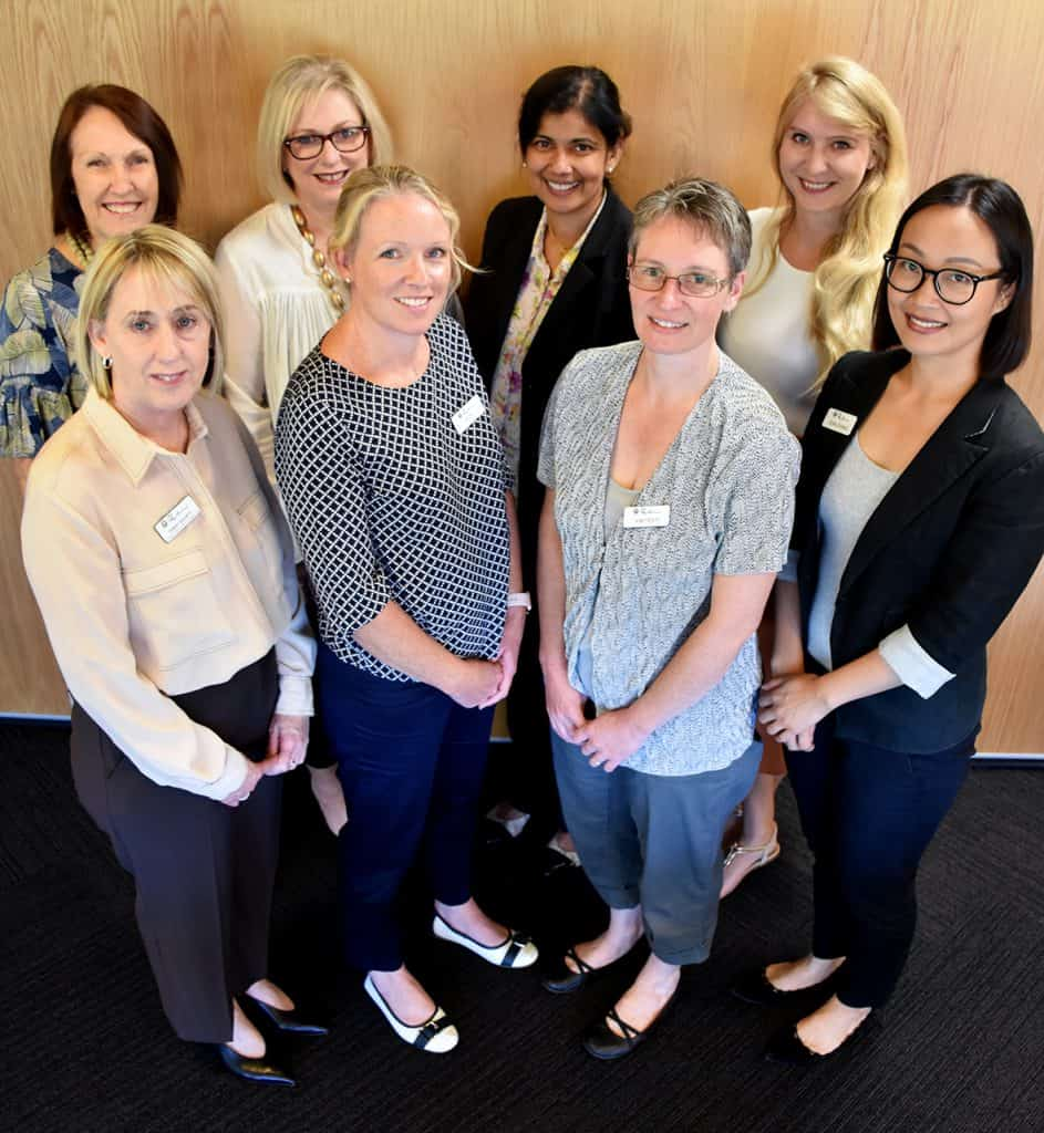 Project FIRST Study Group - Leonie Robson (Senior Manager Clinical Services), Terry Short (Clinical Services Coordinator), Tina Cooper (Executive Manager Residential Services), Vicky Foy (Clinical Nurse), Prof Renuka Visvanathan (University of Adelaide), Dr Agathe Jadczak (University of Adelaide) and Jean Zhang (Clinical Nurse)