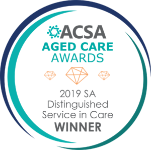 ACSA Aged Care Award - 2019 SA Distinguished Service in Care Winner