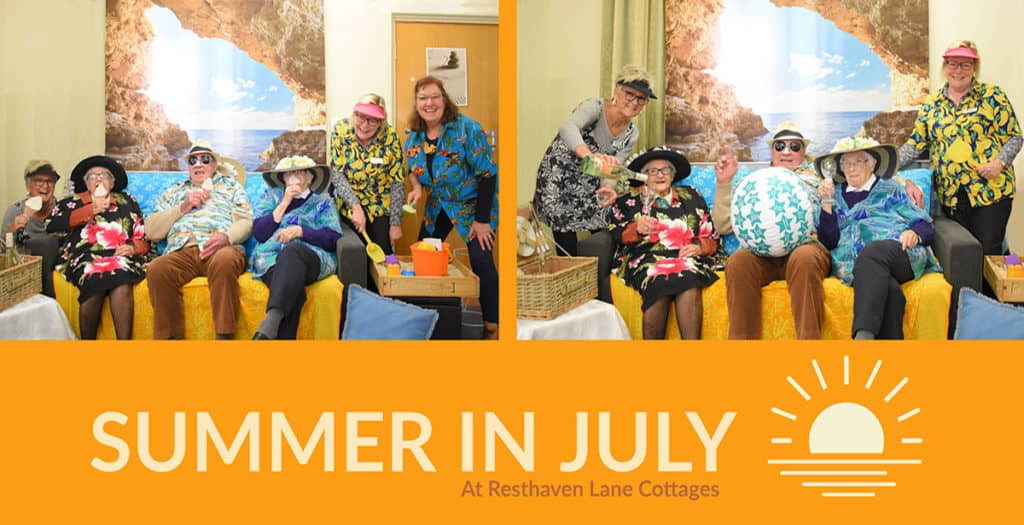 Summer in July at Resthaven Lane Cottages