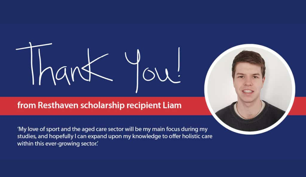 'Thank you' from 21 year old Resthaven scholarship recipient