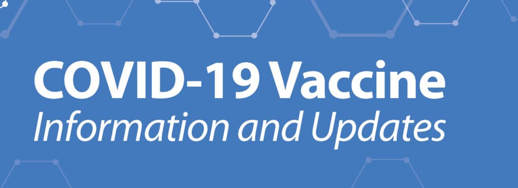 Box with COVID-19 Vaccine Information and Updates