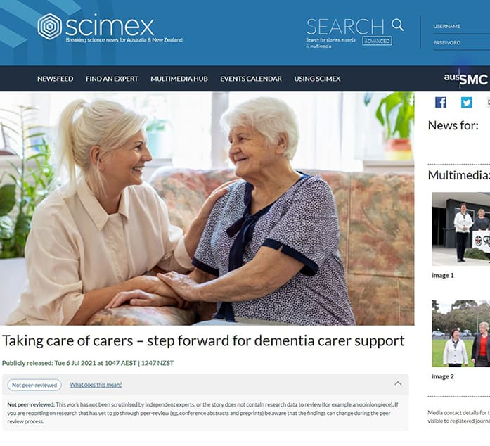 webpage screenshot of scimex