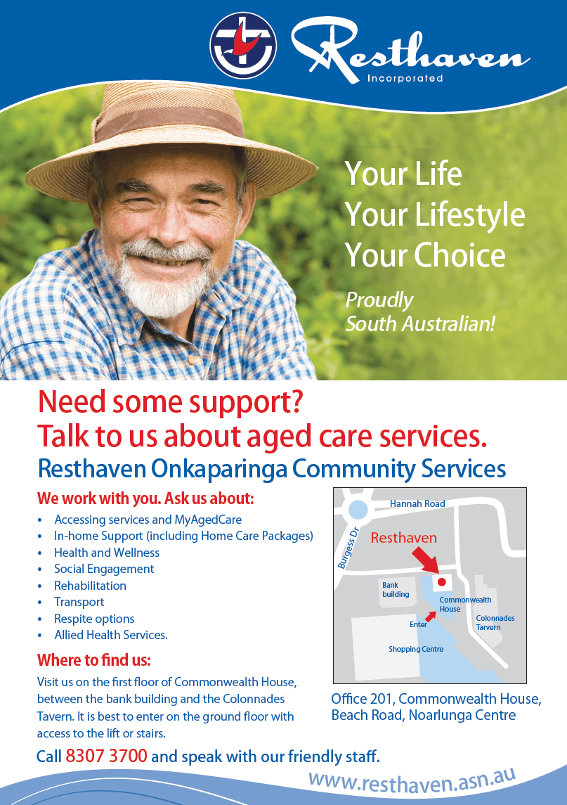 Resthaven Onkaparinga Community Services map
