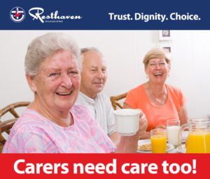Flyer image: carers need care too