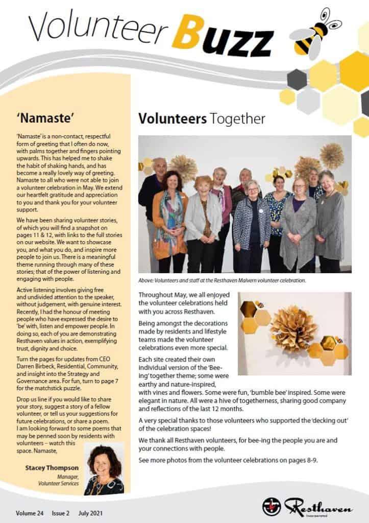 Volunteer Buzz cover