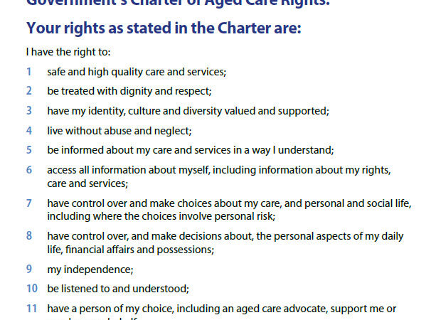 Charter of Aged Care Rights