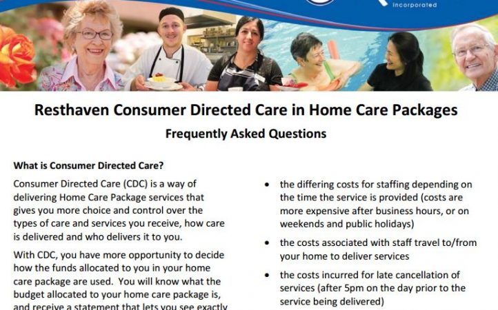 Resthaven Consumer Directed Care in Home Care Packages - FAQ
