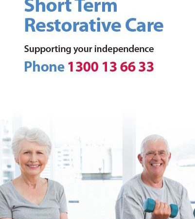 Cover of the Short Term Restorative Care brochure