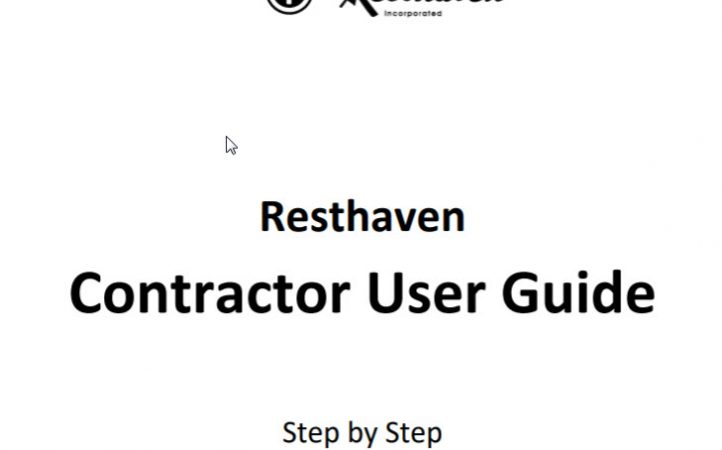 Resthaven Contractor Management User Guide