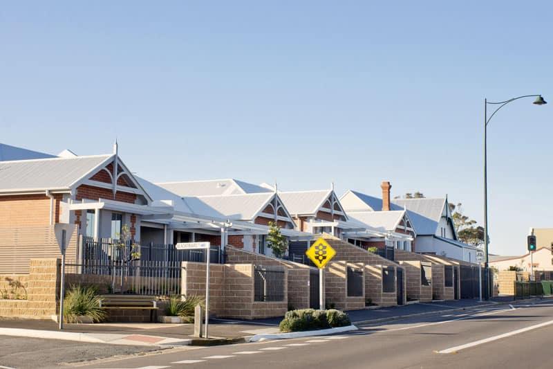 Modern retirement units at Port Elliot